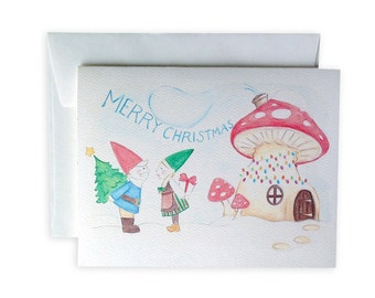 Gnome for the Holidays Greeting Card or Notecard Set
