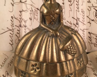 Vintage Southern Belle Brass Bell