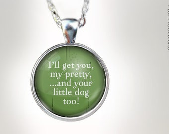 I'll Get You : Glass Dome Necklace gift present by HomeStudio. Round art photo pendant jewelry. Available as Key Ring Keychain