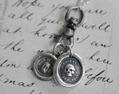 swivel fob wax seal charm catcher - sterling silver charm holder for wax seal jewelry