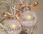 2 x Personalised Christmas Baubles