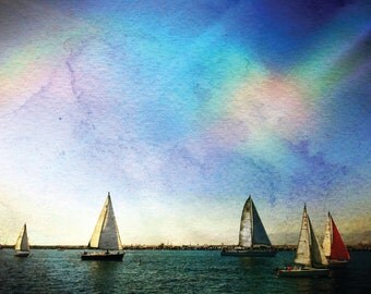 8x10 Digital Photographic Art // Boats in the Marina