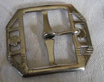 Pierced Silver Metal BELT BUCKLE