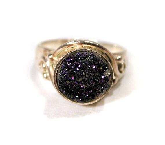 Druzy Bezel Ring