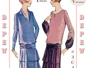 Vintage Sewing Pattern Reproduction Ladies' 1920's Long Sleeve Dress #3047 - Full Sized PAPER VERSION