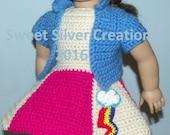 18 inch American Girl Crochet Pattern - Rainbows