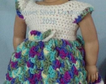 18 inch American Girl Crochet Pattern - Party Dress