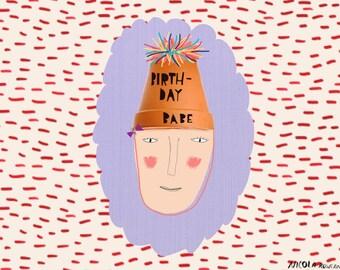 Birthday Babe Birthday Card cc111