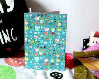 Krazy kitties card cc154