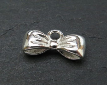 Sterling Silver Bow Charm 12mm (CG8091)