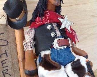 Cloth Doll E-Pattern Western Dressed Cowboy Horse epattern