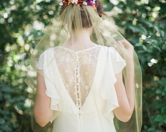 gold tulle veil, gold bridal veil, gold wedding veil, gold veil, gold bridal comb, gold hair accessories, fall wedding, autumn wedding veil