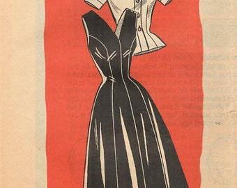 1950s Mail Order 9262 UNCUT Vintage Sewing Pattern Misses Jumper, Princess Jumper, Princess Dress, Blouse Size 12 Bust 32