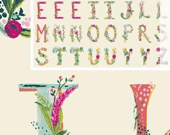 Joie de Vivre,  Joyeux Alphabet - Bari J - Art Gallery Fabric 100% Quilters Cotton JOI-79129