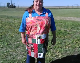 Western-Style Patchwork Apron Top