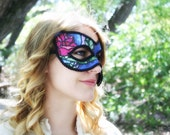 Belle - Beauty and the Beast Inspired Masquerade Ball Mask - The Magic Rose Stained Glass Window