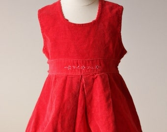 1940s Corduroy Dress~Size 18 Months