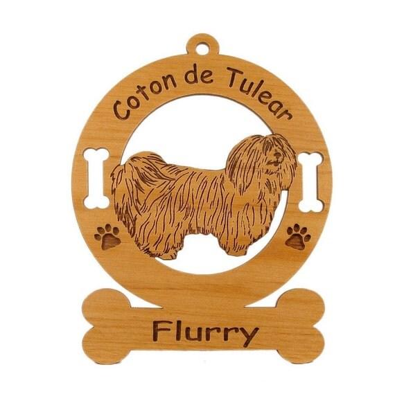 3012 Coton de Tulear Personalized Dog Ornament