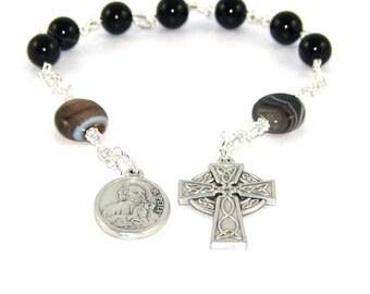 Saint Peter & Saint Paul Anglican Pocket Rosary, Christian Prayer Beads