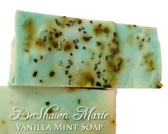 SOAP- Vanilla Mint Soap - Handmade Soap - Vegan Soap- Soap Gift - Soap Favors