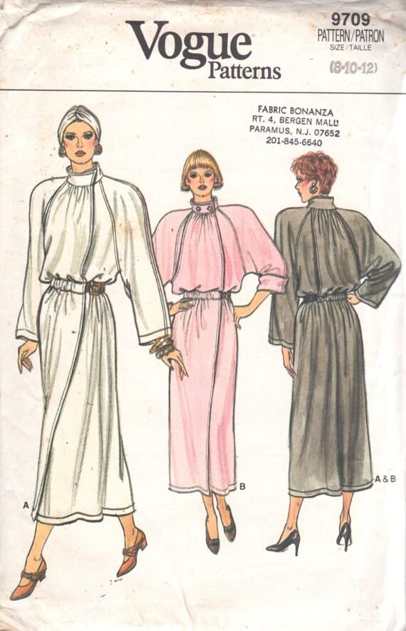 Vogue 9709 1980s Misses Dress Pattern Princess Leia Style  Womens Vintage Sewing Pattern  Size 8 10 12  Bust  31 32 34 UNCUT