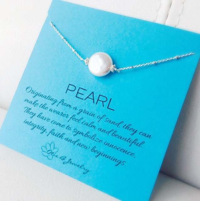 Pearl Necklace, June birthstone, Stones with meaning, freshwater pearl, satellite chain, new age jewelry, single pearl necklace, otis b