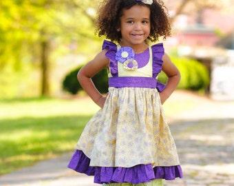 Girl Ruffle Outfits - Girl Ruffle Pants - Girls Boutique Clothing - Girls Birthday Dress - Ruffle Pants - Ruffle Dress - sz 2T to 8