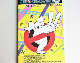 Ghostbusters 2 Activity Book  , 1988 Vintage Activity Book Of Games & Puzzles , Ghostbusters 2 Movie Book , Vintage Children's Activity Pad