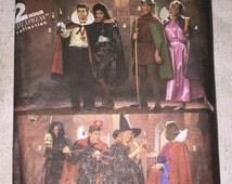 Simplicity Costumes 8274 Witch Vampiress Dracula Maid Marian Robin Hood Dracula Grim Reaper Devil Sewing Pattern Size S  M  L UNCUT