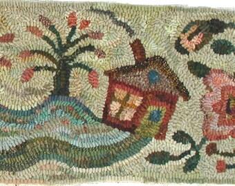 Friendship rug hooking pattern
