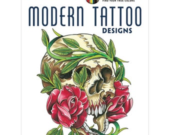 Creative Haven: Modern Tattoo Designs Coloring Book