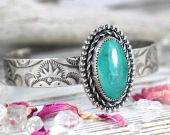 Turquoise Cuff Bracelet Turquoise Bracelet Turquoise Jewelry Turquoise Sterling Silver Bracelet Silver Cuff Bracelet Turquoise Cuff