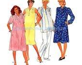 547 Butterick 4304 Womens Pullover Maternity Dress & Tunic Top size 18 Bust 40, Front Tucks Vintage 80's Plus Size Sewing Pattern
