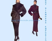 Vogue 8767 Womens Short or Long Wrap Coat w Wide Shawl Collar & Scarf size 6 8 10 Vintage Very Easy Very Vogue Sewing Pattern Uncut