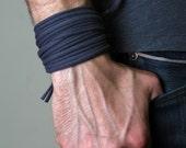 Festival Clothing, For Men, Gray Bracelet, Mens, Womens, Cotton, Music Festival, Mens Bracelet, Wrap Bracelet, Burning Man Mens
