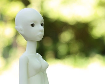 Blank BJD Doll Cerridwen,white skin, Slim MSD, 40 cm, Artist doll BJD by miradolls