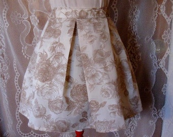 Full Pleated Floral Skirt- Modest Skirt - Floral Skirt - Pleated Skirt - Spring Skirt - Summer Skirt - Free Size