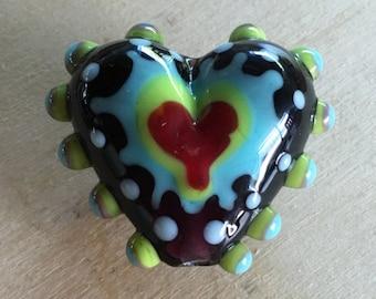 Destash - Lampwork Heart Focal