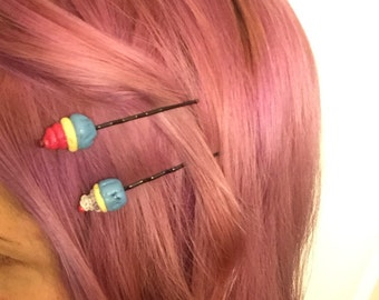Bobby pins- Cup Cake Bobbies ready to ship