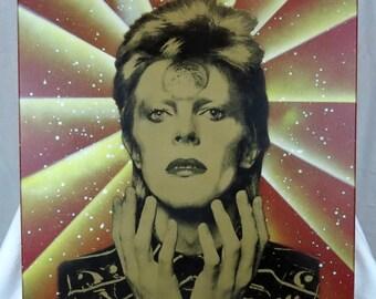 David Bowie 16x20 Screenprinted Wall Art