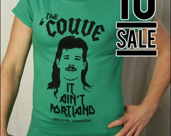 10 DOLLAR SALE-- The Couve It Ain't Portland Green Womens Tshirt