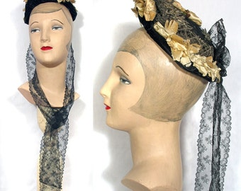 Victorian 1880s to Early 1890s Wire and Lace Bonnet