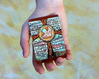 Holy Spirit Prayer Card, wallet-sized aluminum, St. Augustine Holy Spirit prayer, confirmation gift