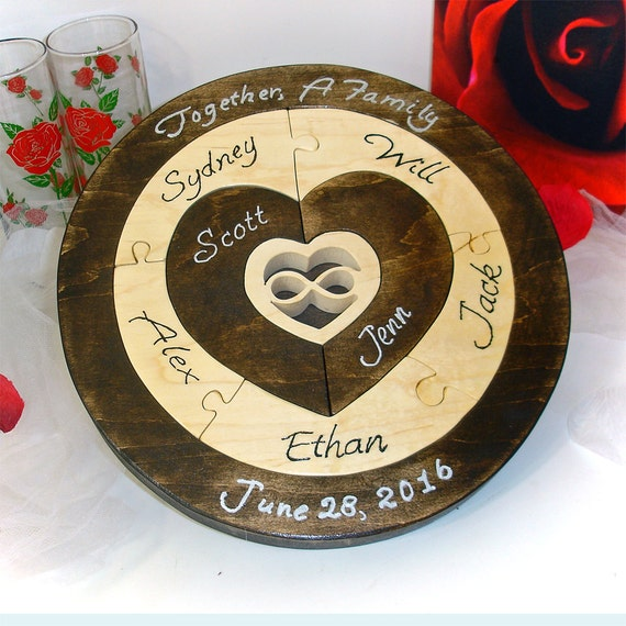 Unity ceremony wedding puzzle blended family wedding unity puzzle