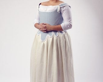 Custom Order Colonial 1770s Diderot Corset Upon Request