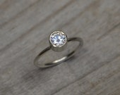 Moissanite Engagement Ring Set In 9ct White Gold, Diamond Alternative Engagement Ring