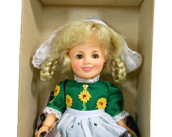1982 Vintage HEIDI Doll | SHIRLEY TEMPLE | Doll Clothes |   Ideal Doll 8"