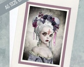 A5 Greeting Card - Vampire Portrait Greeting Card - Guilty Conscience