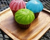 Glass Cupcakes, Set of Th...