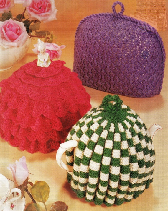 PDF Knitting Pattern / Tea Cosies / Vintage Knitting Pattern